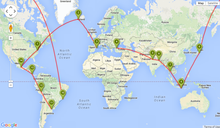 Straighten Up and Fly Right: Planning RTW Flights