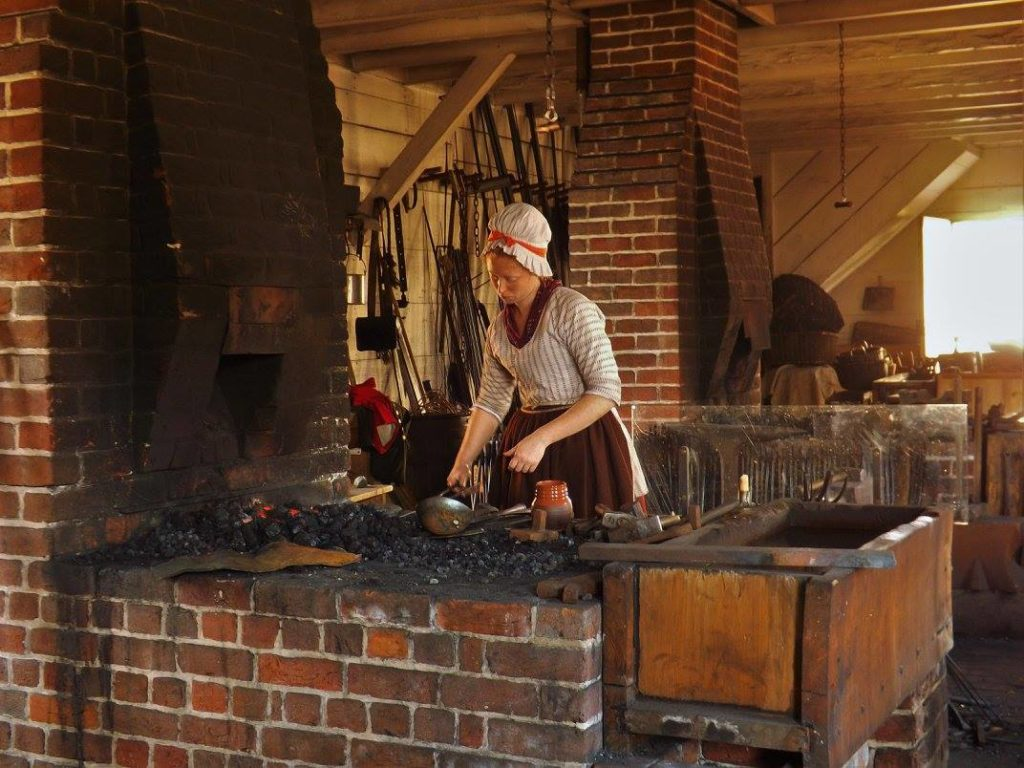 Blacksmith at Colonial Williamsburg