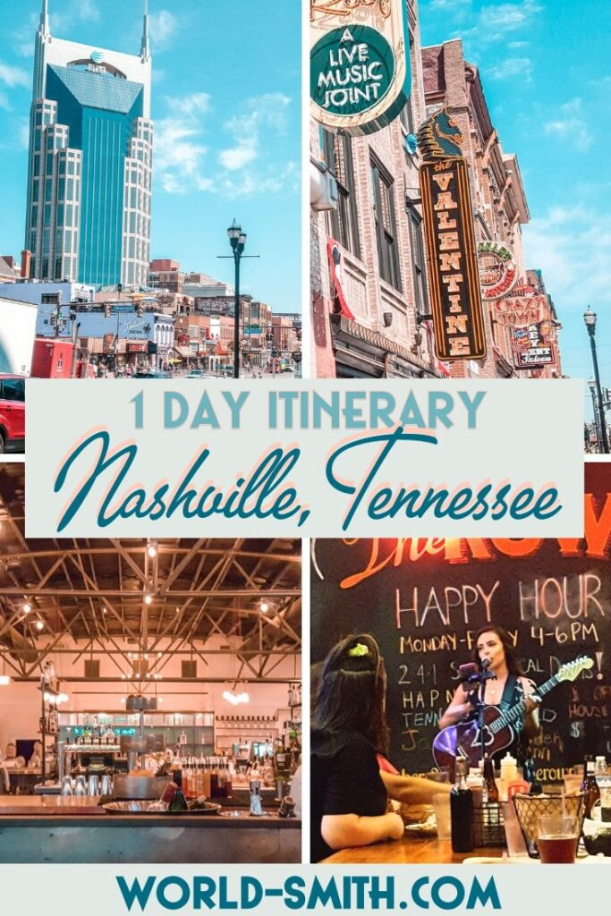 Pin this! One Day Itinerary for Nashville Tennessee