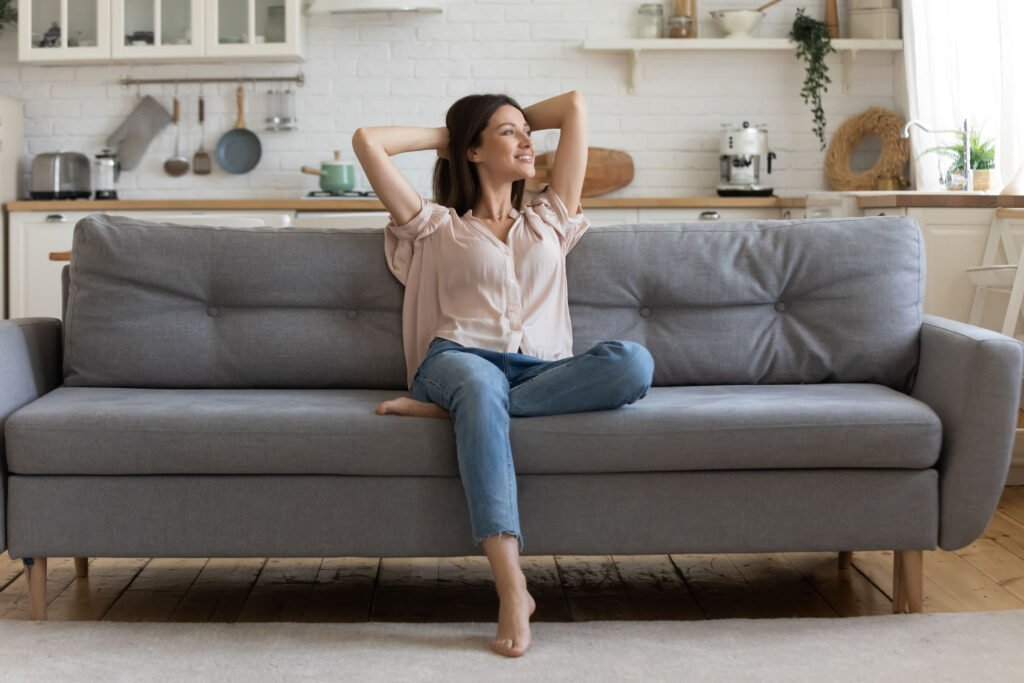 chilling on the couch | How to Have a Stellar Summer Staycation