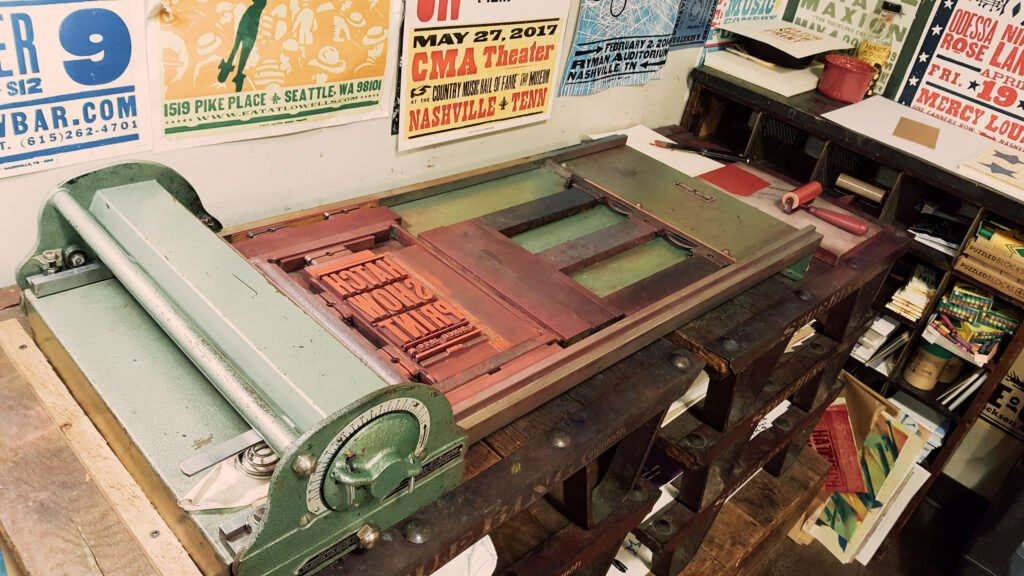 letterpress at Hatch Show Print in Nashville Tennessee | One Day in Nashville for Solo Female Travelers