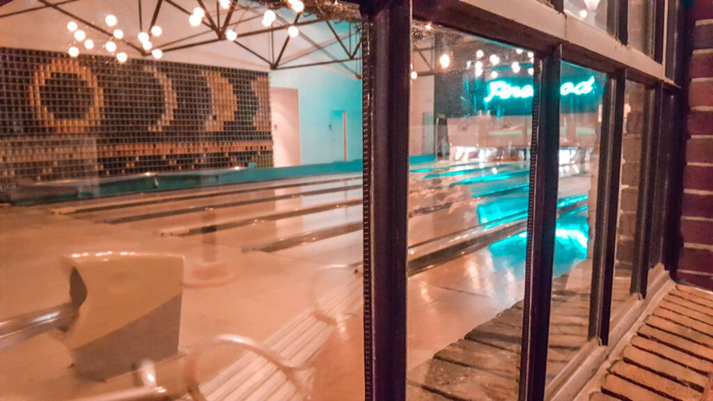 bowling at Pinewood Social in Nashville Tennessee | One Day in Nashville for Solo Female Travelers