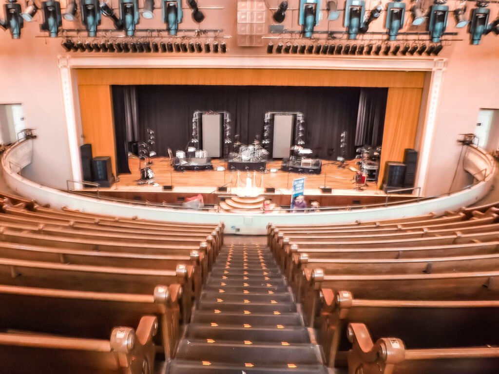 self-guided tour of Ryman Auditorium former home of the Grand Ole Opry in Nashville Tennessee | One Day in Nashville for Solo Female Travelers