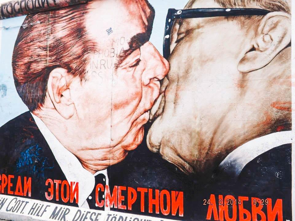 Fraternal Kiss mural East Side Gallery Berlin | Best Street Art Cities