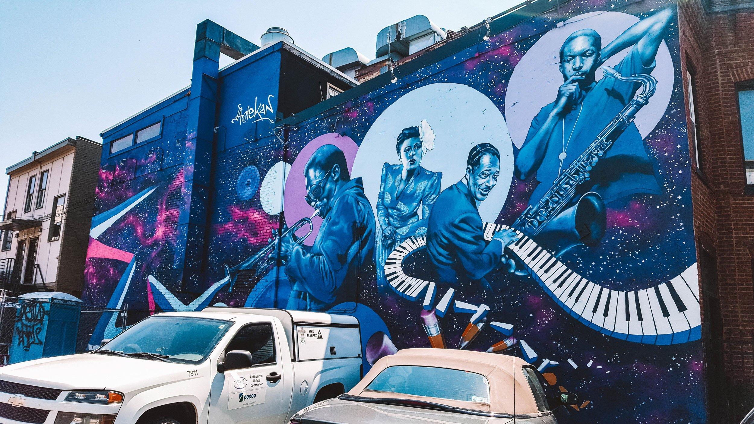jazz mural near U Street in Washington DC | Best Street Art Cities