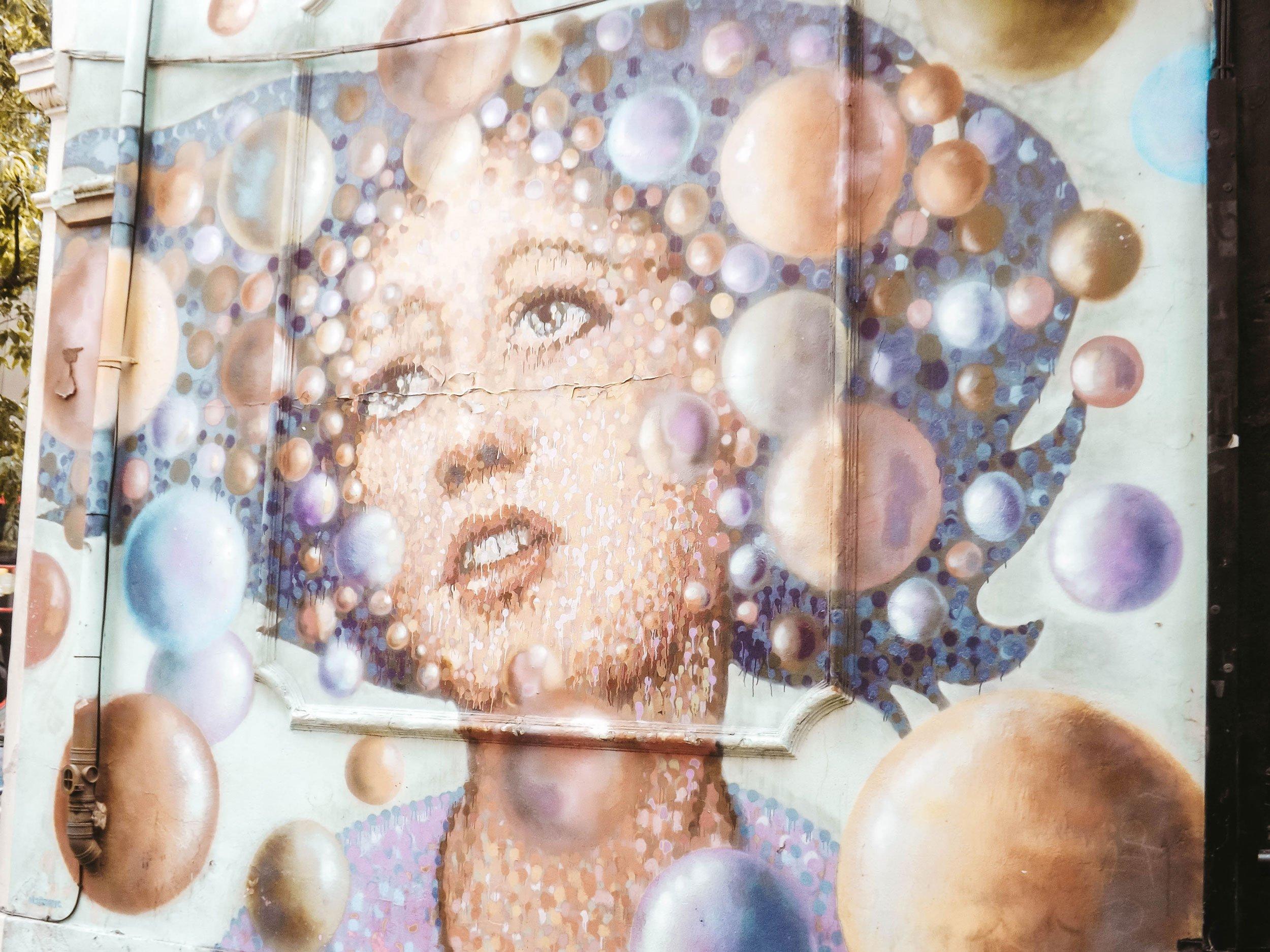 mural in Shoreditch London | Best Street Art Cities