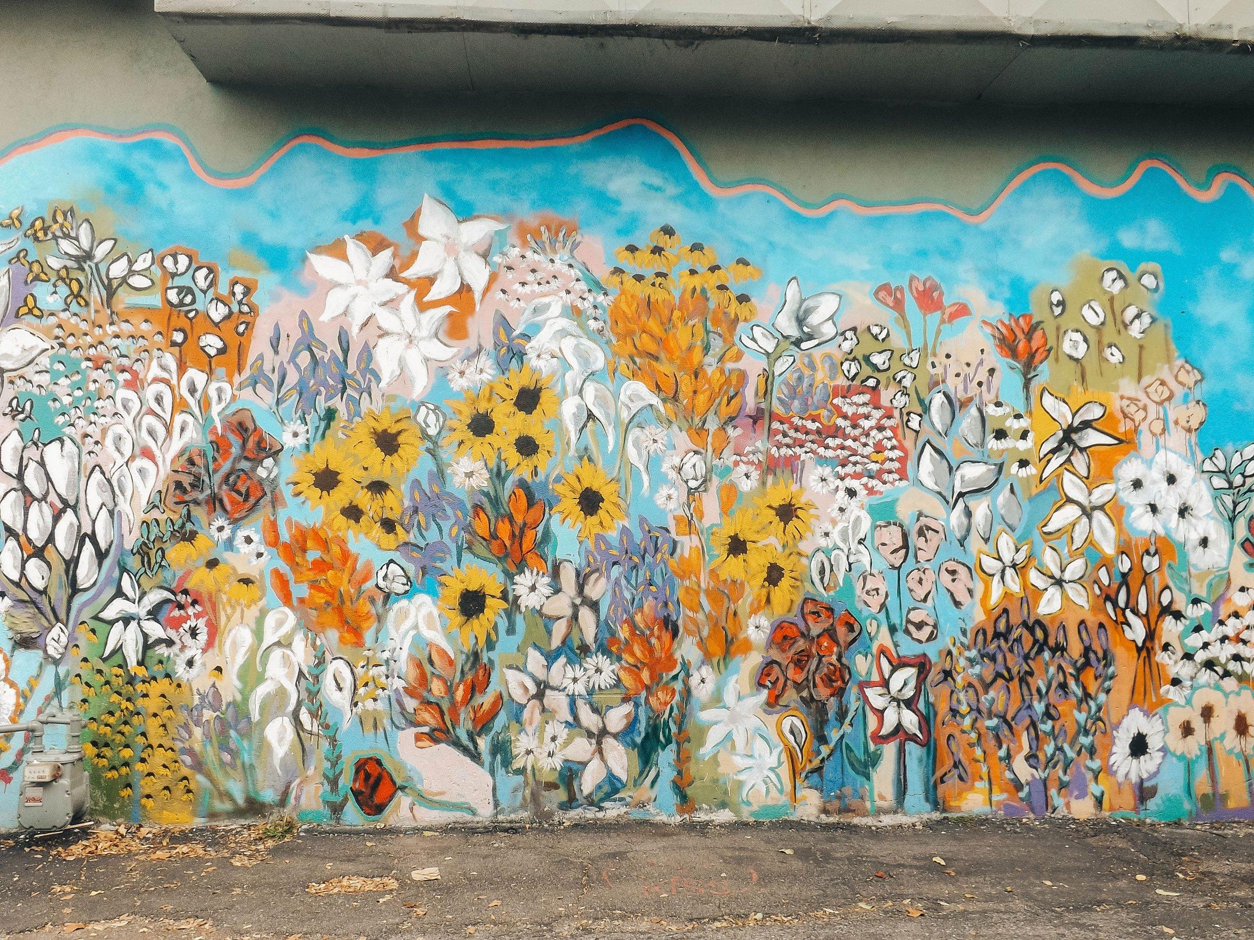 flowers mural 12South Nashville | Best Street Art Cities