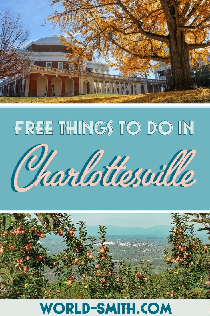 Pin this! Free things to do in Charlottesville