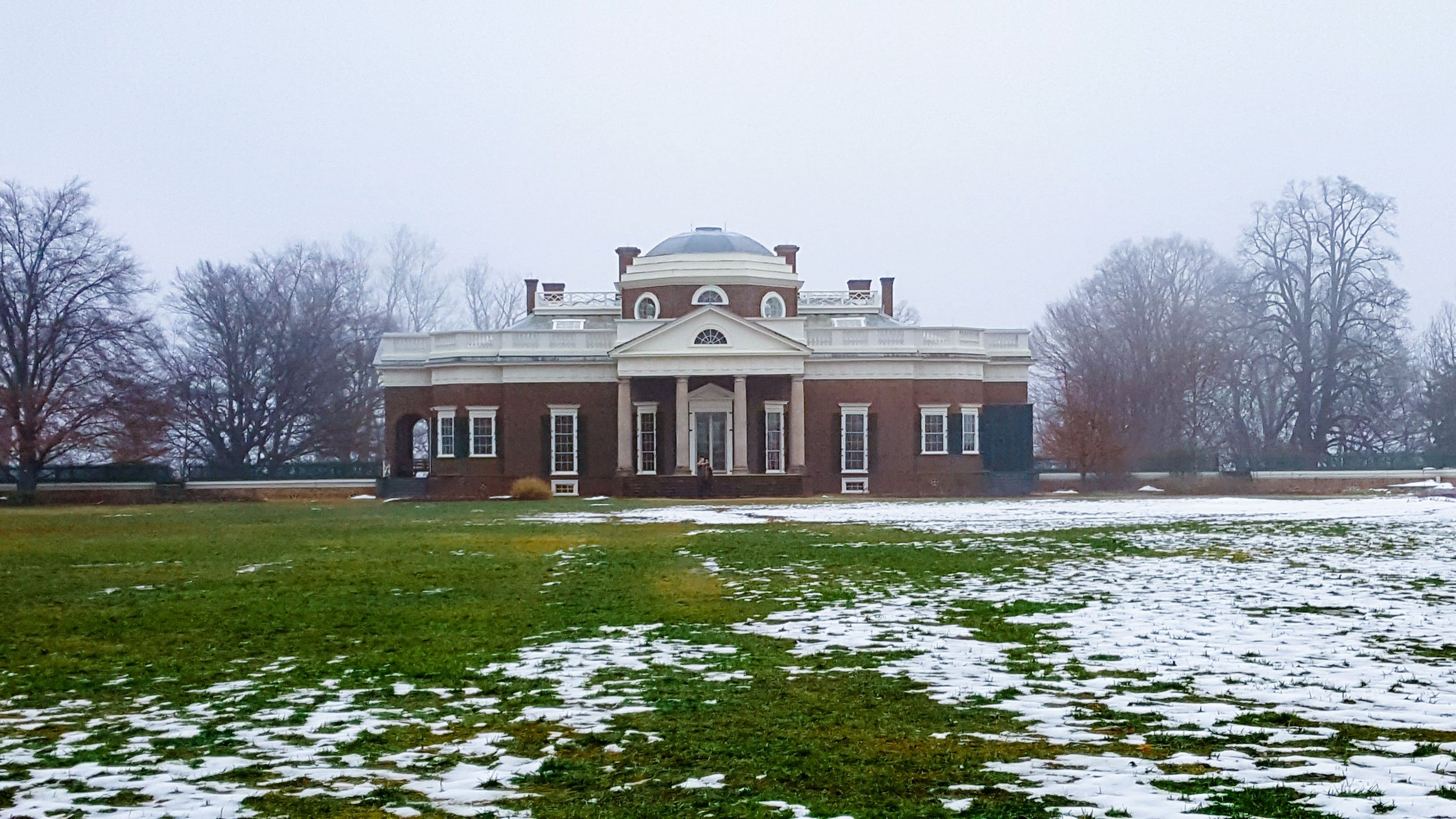 Monticello in winter | Best Time to Visit Virginia