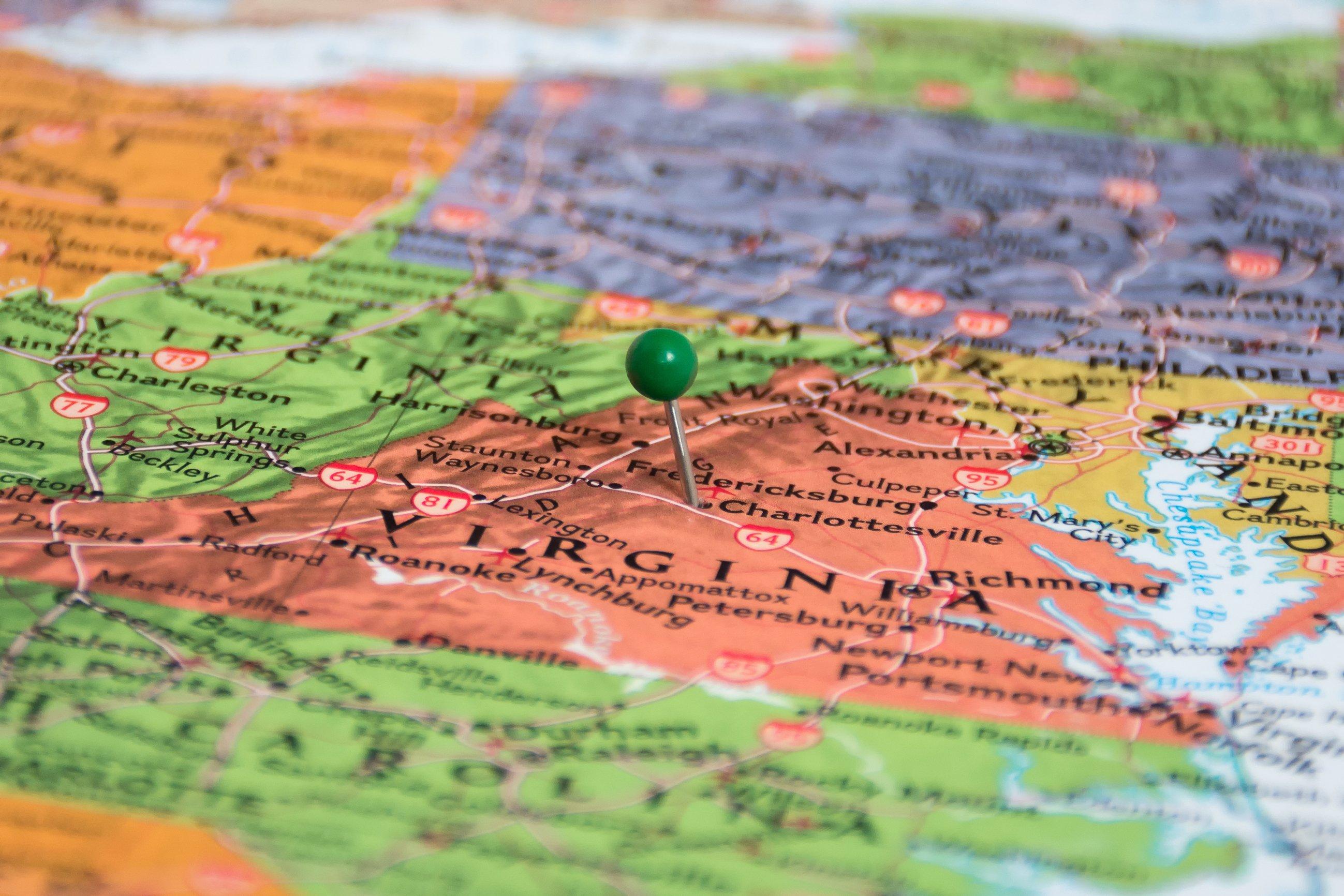 Virginia map | 2 Week Virginia Road Trip from Washington DC