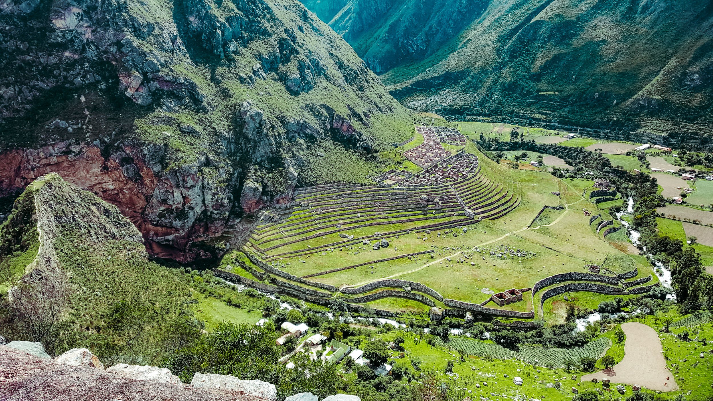 Llactapata ruins on the Inca Trail | How to Hike the Inca Trail as a Solo Female Traveler