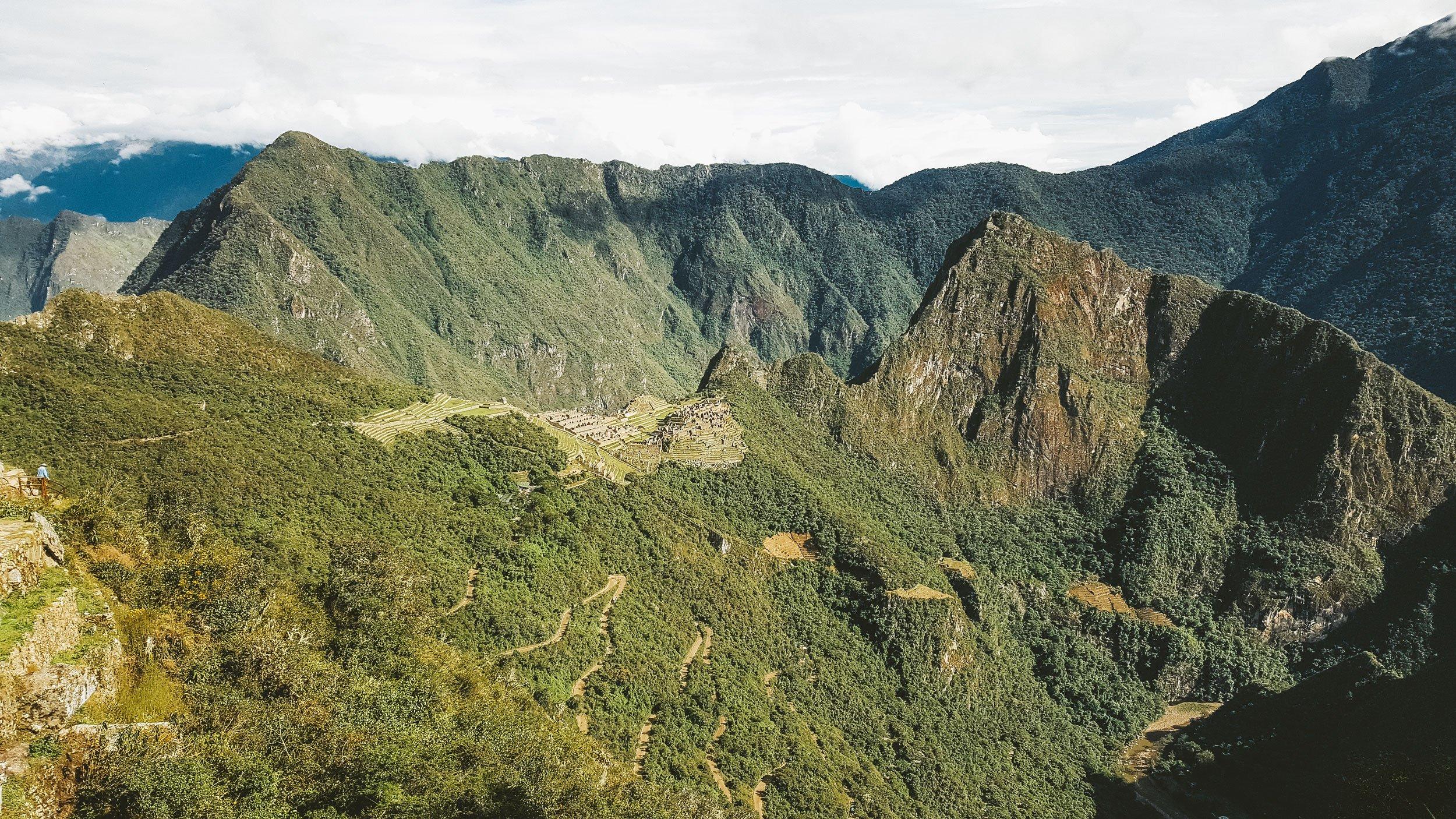 view from Intipunku Sun Gate at Machu Picchu | How to Hike the Inca Trail as a Solo Female Traveler