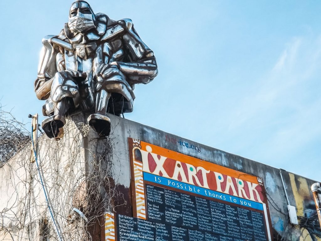 Bumper Buddha sculpture at IX Art Park | Charlottesville Arts Excursion | How to Spend an Art-Filled Weekend in Charlottesville Virginia
