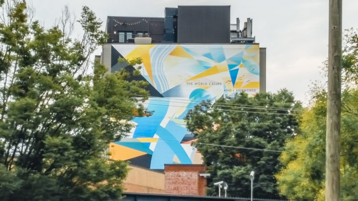 The World Called and I Answered | Charlottesville Mural