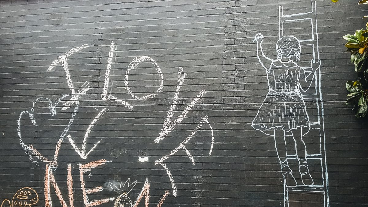 Belmont Community Chalkboard | Charlottesville Mural Mile